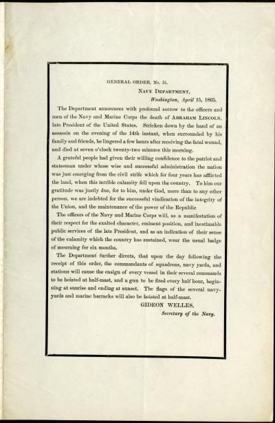 Printed General Order no. 51 - Department of the Navy