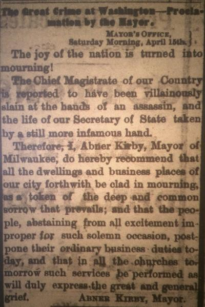 """The Great Crime in Washington- Proclamation by the Mayor"""