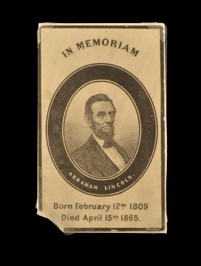 Mourning Card in memoriam