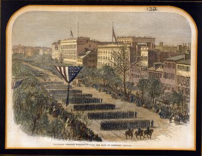 Procession Through Washington with the Body of President Lincoln