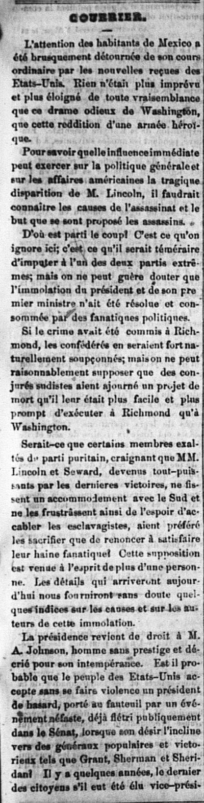 L'Estafette: Journal Français