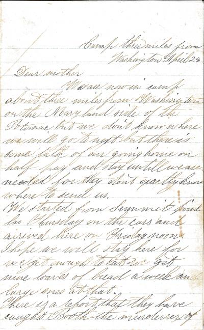 Letter - Dexter Jewett Washington DC April 24 pt1