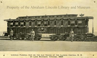 Lincoln Funeral Car on the Old Tracks of the Illinois Central R.R.