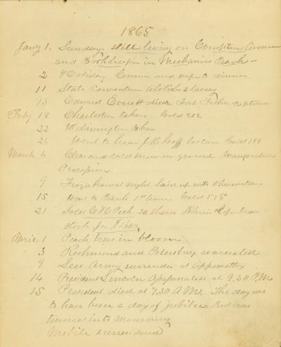 Nathan D. Allen diary, 1834-1888