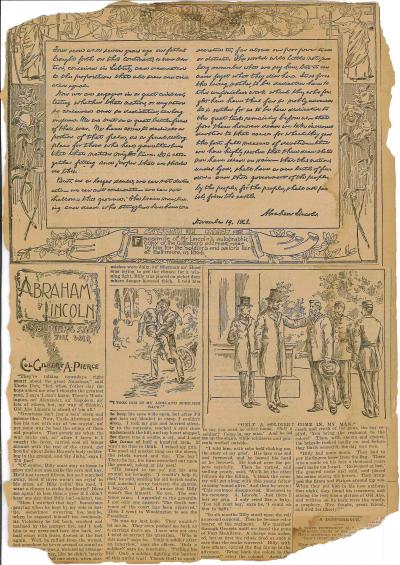 Newspaper Clipping – A Soldier's Story of the War