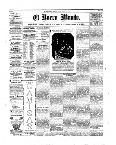 El Nuevo Mundo: Lincoln Assassination, April 28th, 1865