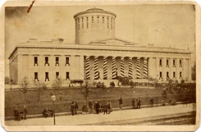 Ohio Statehouse Decorated for Lincoln Funeral Photograph