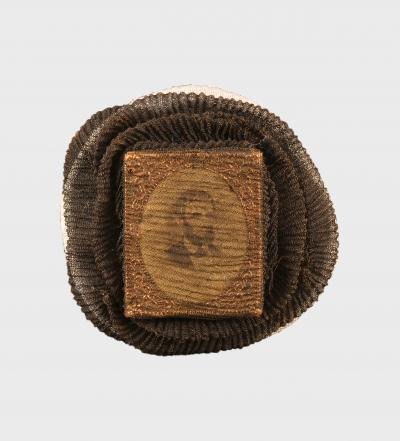 Mourning Pin with Lincoln's Portrait