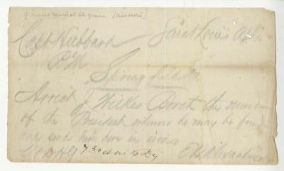 Telegram calling for the arrest of John Wilkes Booth