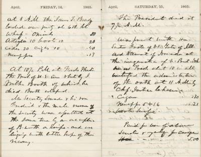 Senator Alexander Ramsey's Diary Entries, April 1865