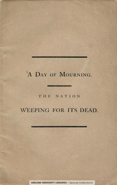 A Day of Mourning. The Nation Weeping for its Dead