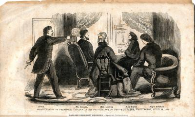 John Wilkes Booth Killing President Lincoln