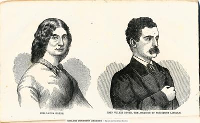 Miss Laura Keene; John Wilkes Booth, the assassin of President Lincoln