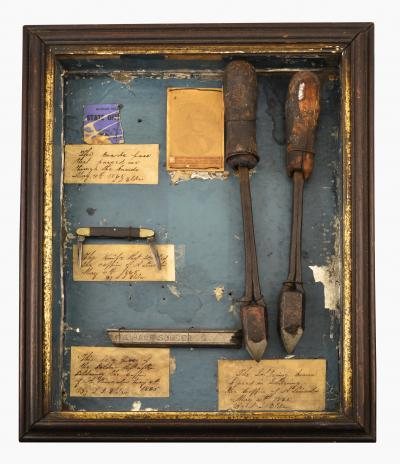 Soldering Tools in Shadow Box