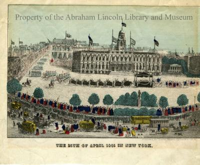 The 25th of April 1865 in New York