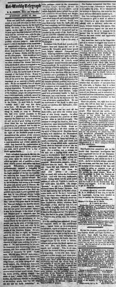 Houston Tri-Weekly Telegraph