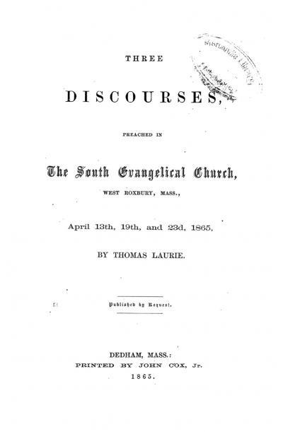 Three Discourses