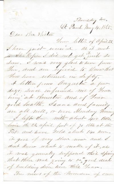 Edgar Lincoln Letter