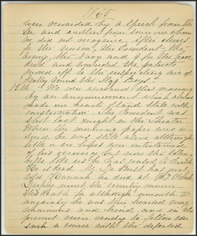 Mary Henry Diary